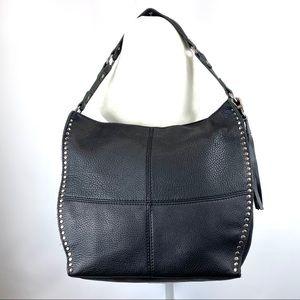 The Sak Hobo Bucket bag black leather